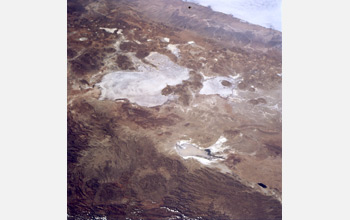 Image of nearby Lake Poopo, which has dried up but for brief periods.