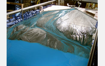 "Photo of the ""Jurassic Tank"" at NSF's National Center for Earth-surface Dynamics."
