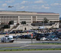Photo of the damaged Pentagon building from the August, 2011 earthquake.