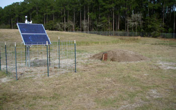 Image of a seismic station in Florida.