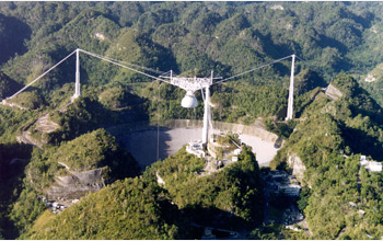 Photo of Arecibo Observatory in Puerto Rico.
