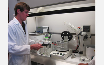 Photo of a scientist in a lab.