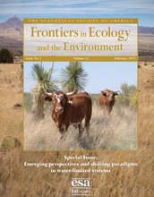 cover of Frontiers in ecology journal