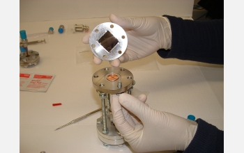 Researchers used the wafer test fixture to test the new porous-silicon diode.