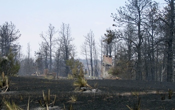 Homes destroyed by fire near Valentine, Neb.
