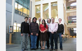 Photo of Cornell University researchers who are developing flexible electronics.