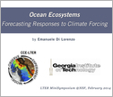 title slide for ocean ecosystems forecasting resposnses to climate forcing