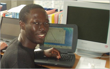 NSF and the Ford Motor Company Fund have provided funding for Mr. Kumah and other undergraduates at