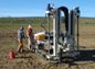 Image of an infiltration testbed with instruments to assess groundwater recharge and recovery.