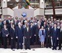 Photograph of the heads of research councils from about 50 countries.