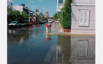 Photo of flooding in Florida's Key West.