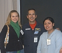 Astonomy students from an Arlington, Va. high school were on hand for Herrington's talk.