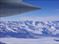 flying past the Transantarctic Mountains