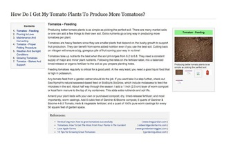 screenshot fo a wikipedia page about tomatoes