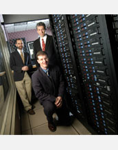 Ken Bloom (left), Aaron Dominguez (top), and  David Swanson (bottom) of the University of Nebraska.
