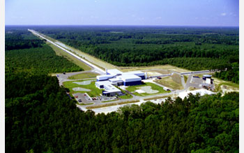 Aerial of the LIGO Livingston site.