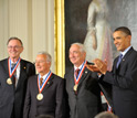 Photo of National Medal of Technology and Innovation recipients with President Obama.