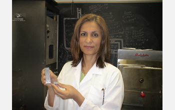 Photo of Afsaneh Rabiei who invented an ultra-strong and lightweight composite metal foam.