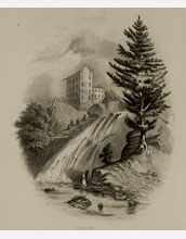 Image of the nineteenth century painting Red Mill Fall (Opposite Albany) by William Tolman Carlton.