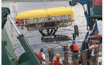 Photo of the hybrid remotely operated vehicle Nereus.