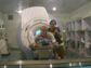 Photo of Sook-Lei Liew and R.J. Andrews in the MR scanner room at Peking University First Hospital.