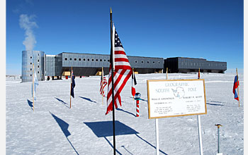 Photo of the new South Pole station