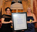 Photo of NSB's France C�rdova presenting the 2011 Public Service Award - Individual to Moira Gunn.