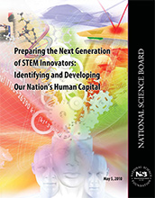 Cover of the National Science Board report Preparing the Next Generation of STEM Innovators