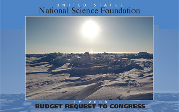 U.S. National Science Foundation FY 2008 Budget Request to Congress and photo of sun and snow.