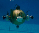ODIN (Omni-Directional Intelligent Navigator) under water