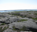 Photo of bedrock along the coast of Hudson Bay, Canada.