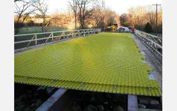 Fiberglass-polymer composites form the core of a renovated bridge deck in Springfield, Mo.