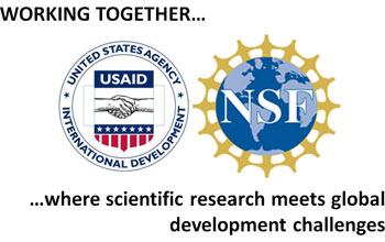 Logos for the National Science Foundation and USAID.