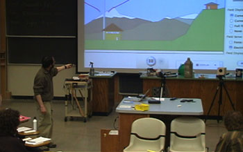 Professor Steve Pollock uses the PhET Radio Waves and Electromagnetic Fields simulation.
