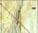 Diagonal line showing location of RISTRA seismic instruments.