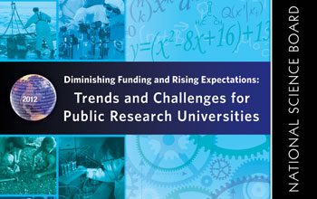 Cover of the NSB report Trends and Challenges for Public Research Universities.