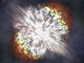 Illustration of a supernova explosion.