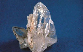 Photo of quartz crystals.