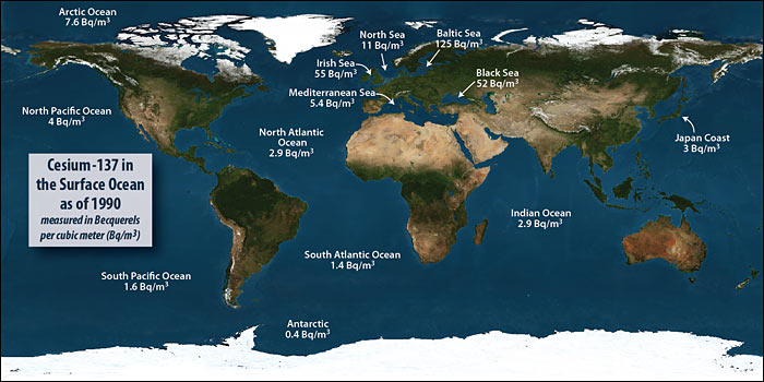 Multimedia Gallery - Background radiation in oceans and seas ...