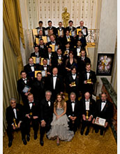 Photo of Jessica Alba and recipients of 2008 A.M.P.A.S Scientific and Technical Achievement Awards.