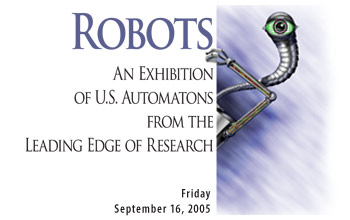 Poster highlighting the NSF Robotics Exhibition
