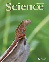Cover of the March 2, 2012 issue of the journal Science.