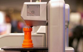 Close-up image of a 3-D printer