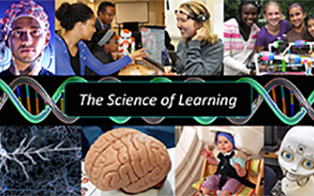 Collage of images related to the Science of Learning