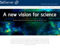 screenshot of the SciServer website