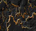 LIDAR image of steep areas in orange along the Minnesota River.