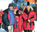 Photo of lead scientists Martin Melles, Julie Brigham-Grette and Pavel Minyuk at Lake E.