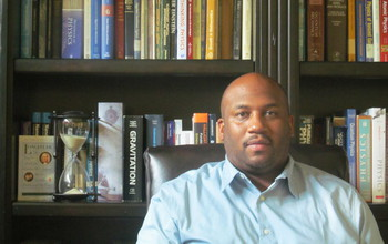 Clayton Simien in his office