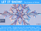 screenshot of website showing a snowflake and text let it snow the science of winter