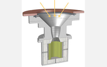 Illustration of the ETH-Caltech solar reactor.
